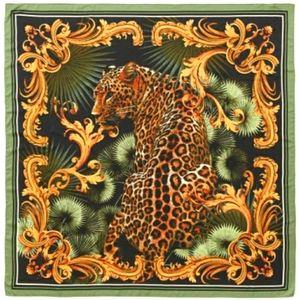 NWT! Silky Leopard Satin Scarf